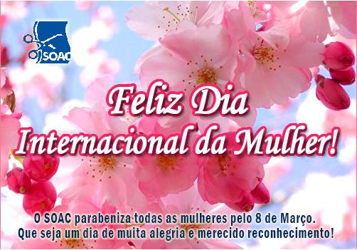 Parabéns Costureiras pelo 8 de março, Dia da Mulher!