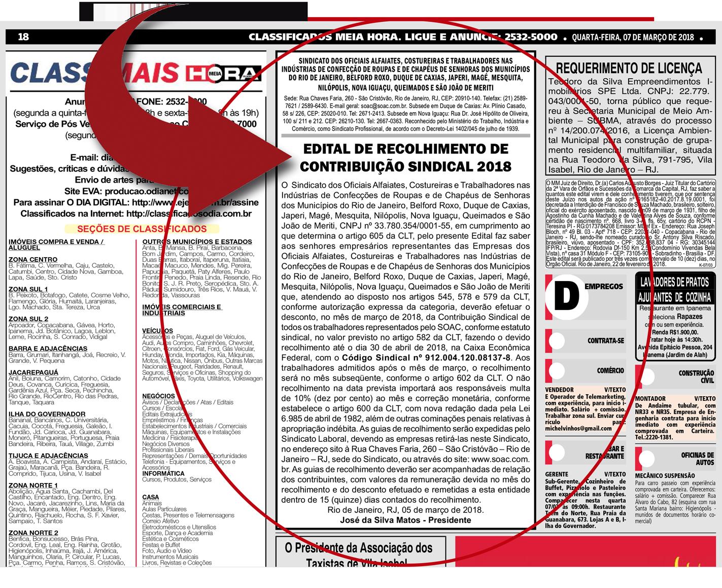 Empregador: veja aqui o Edital da Contribuição Sindical